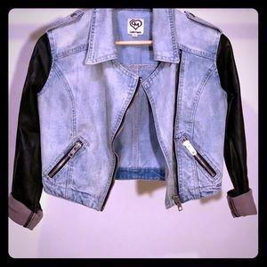 CARMAR Jean/Faux Leather Motorcycle Jacket